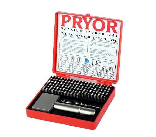 Pryor Interchangeable Punch Set - Alphanumeric Steel Type Marking Sets